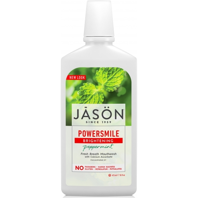 Apa de gura naturala Power Smile, pentru albire si respiratie proaspata - Jason