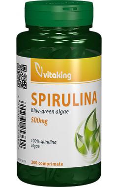 Spirulina pura 500mg, 200 comprimate - Vitaking