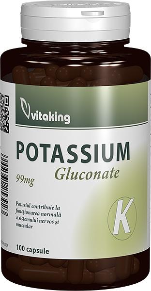 Potasiu 99mg, 100 capsule - Vitaking