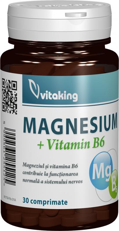 Magneziu cu vitamina B6, 30 comprimate - Vitaking