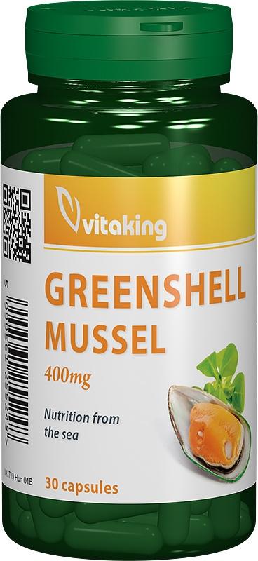 Cochilie de scoica verde 400mg, 30 capsule - Vitaking