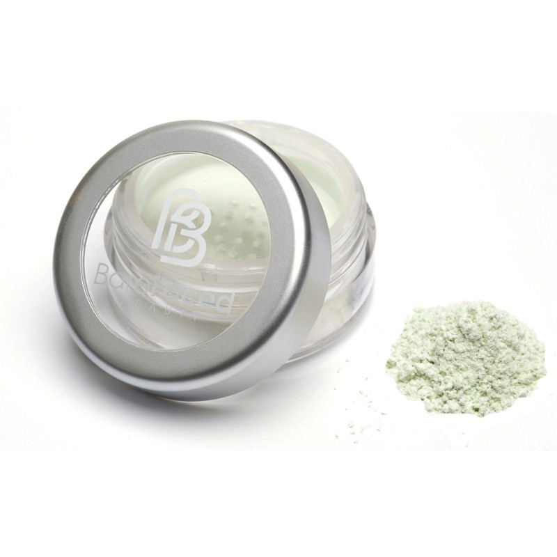 Pudra minerala corectoare antiroseata CALM, 4g - Barefaced Beauty