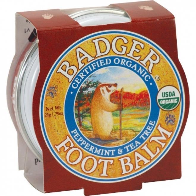 Mini balsam pentru picioare obosite, calcaie crapate Foot Balm, 21g - Badger