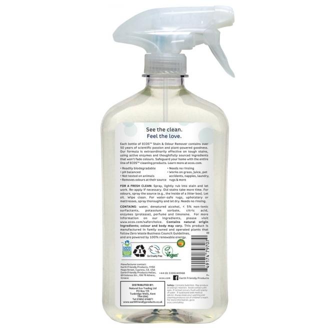 Solutie pentru scos pete si mirosuri, 500 ml - ECOS