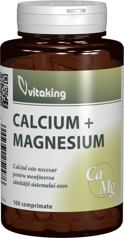 Calciu-Magneziu 500/250, 100 comprimate - Vitaking