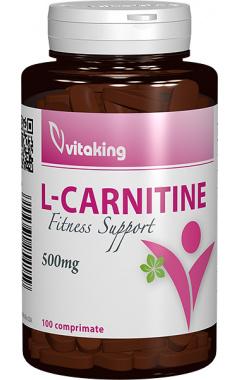L-carnitina 500mg, 100 comprimate - Vitaking