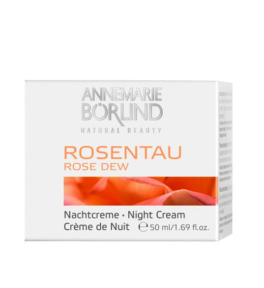 Rose Dew Crema de noapte pentru ten deshidratat, 50 ml - Annemarie Borlind