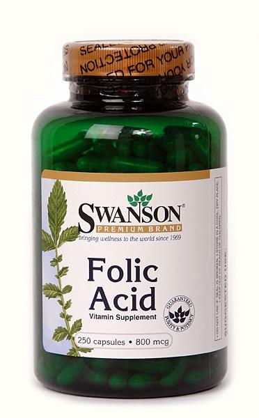 Vitamina B4 (Acid folic), 250 capsule - Swanson
