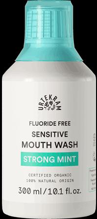 Apa de gura bio Strong Mint cu extract salcie, pentru dinti sensibili, 300ml - URTEKRAM