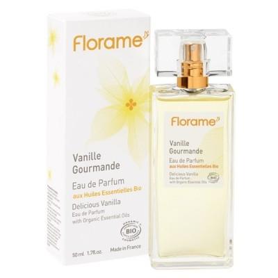 Apa de parfum bio Delicious Vanilla, 50 ml - Florame