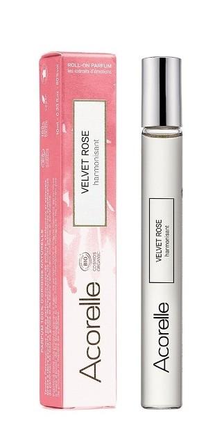 Apa de parfum bio Velvet Rose, roll-on 10 ml - Acorelle