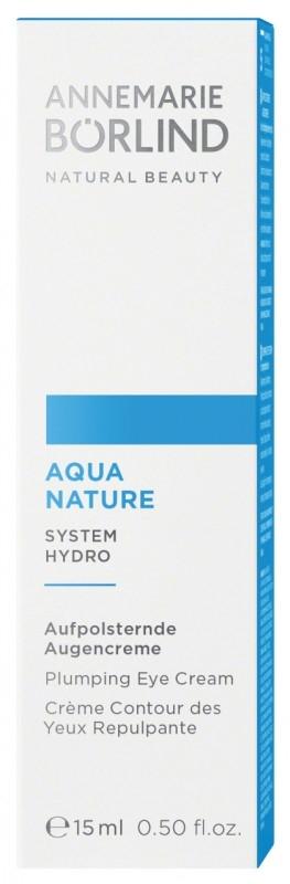 Aquanature Crema ochi antiage cu acid hialuronic, 15 ml - Annemarie Borlind