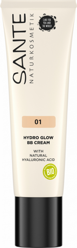 BB Cream Hydro Glow cu acid hialuronic 01 Light-Medium - SANTE NATURKOSMETIK