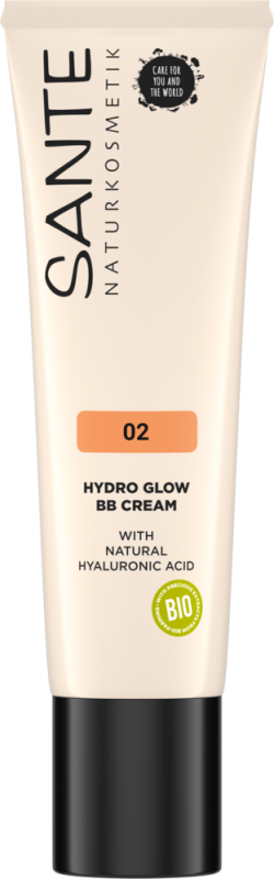 BB Cream Hydro Glow cu acid hialuronic 02 Medium-Dark - SANTE NATURKOSMETIK