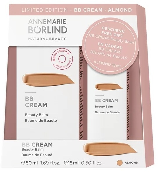 BB cream multifunctional Almond (ten inchis) + 15 ml CADOU - Annemarie Borlind