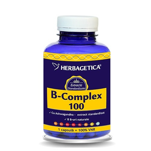 B Complex 100, 60 capsule - HERBAGETICA