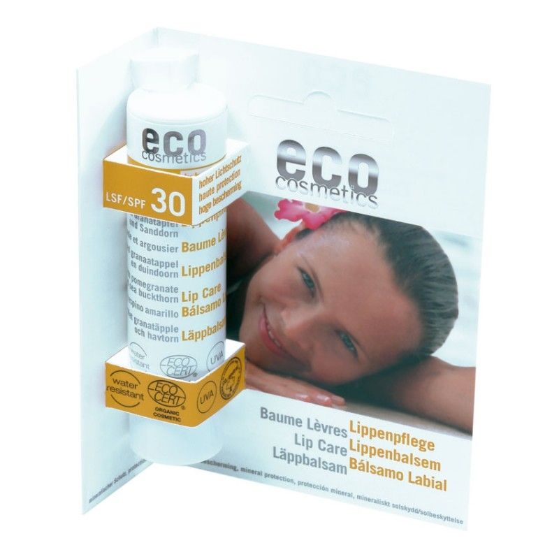 Balsam de buze bio cu protectie solara inalta FPS 30 - Eco Cosmetics