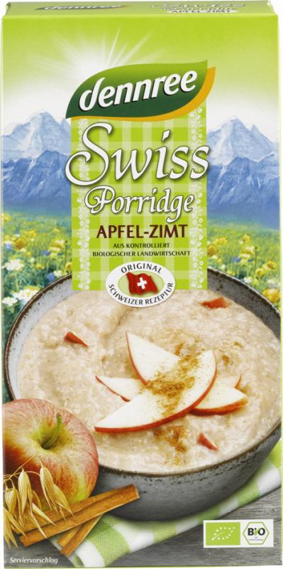 Bio Swiss Porridge cu Mar si Scortisoara, 400 g - Dennree