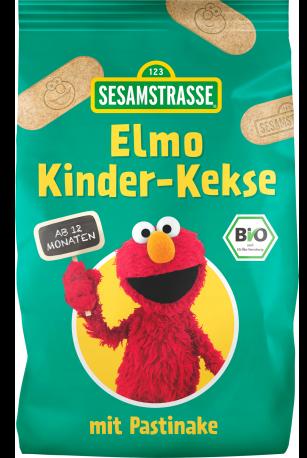 Biscuiti bio pentru copii cu pastarnac Elmo, 125g - SesameStreet