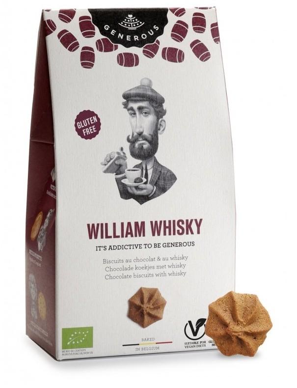 Biscuiti cu ciocolata si whisky William Whisky, 120g - Generous