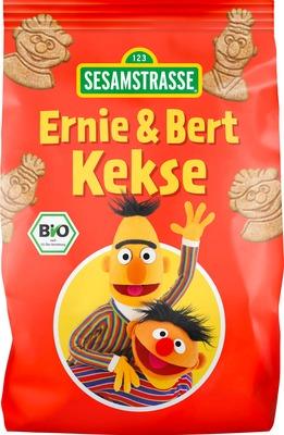Biscuiti bio pentru copii cu nuca de cocos Ernie & Bert, 150g - SesameStreet