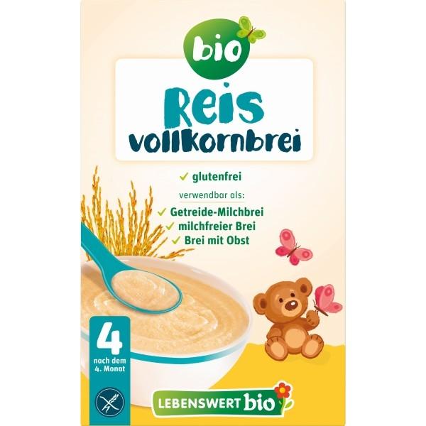 Cereale bebe din orez BIO, +4 luni, 225g - Lebenswert