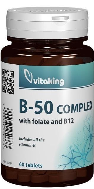 Complex Mega B-50, 60 comprimate - Vitaking