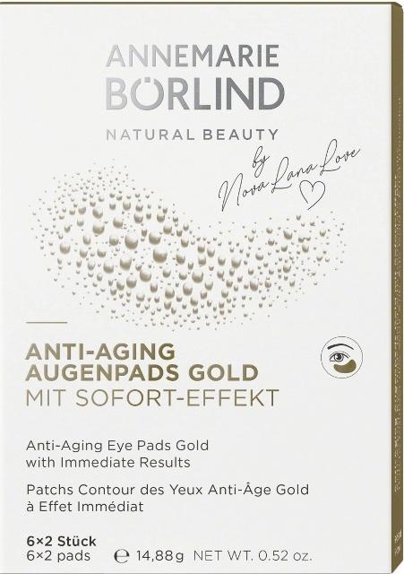 Comprese ochi anti aging GOLD, efect imediat,  6 x 2buc - Annemarie Borlind