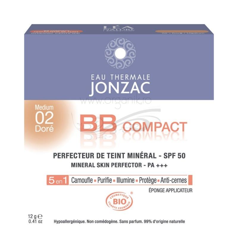 BB cream compact 5 in 1 cu FPS 50 (02 ten inchis) - JONZAC