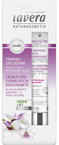 Crema antirid ochi cu ulei de karanja si acid hialuronic, 15 ml - LAVERA