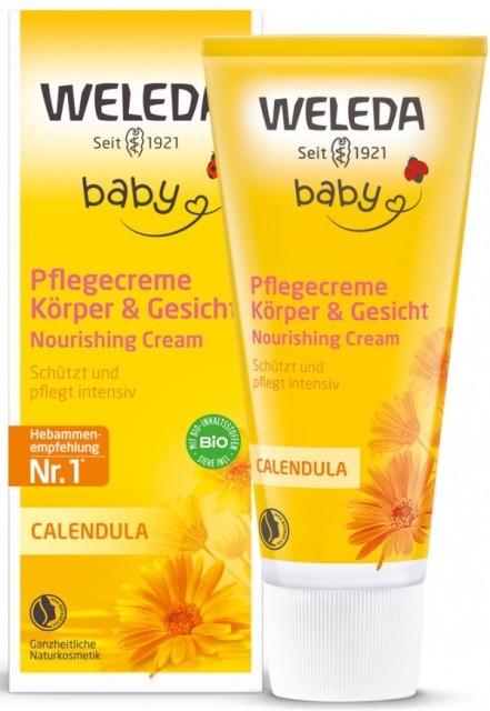 Crema de corp hidratanta cu galbenele, 75 ml - Weleda Baby