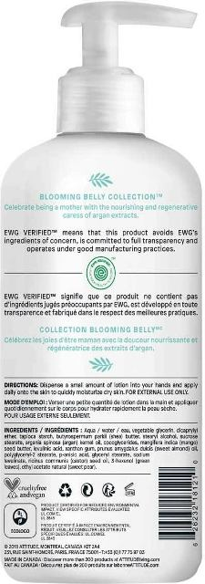 Crema de corp nutritiva Blooming Belly, sarcina si alaptare - ATTITUDE