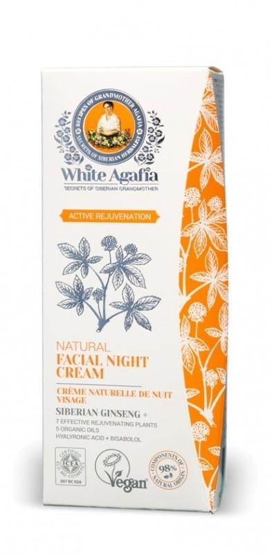 Crema de noapte antiage cu ginseng siberian Active Rejuvenation, 50ml - White Agafia