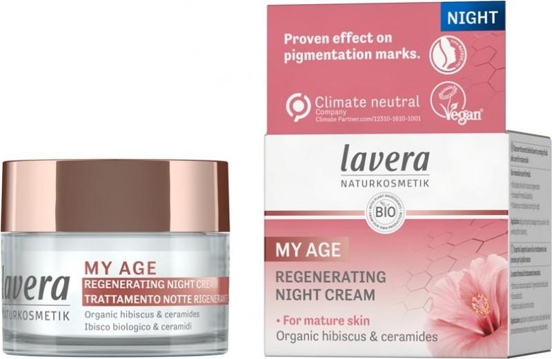Crema de noapte regeneranta ten matur cu hibiscus si ceramide MY AGE, 50ml - LAVERA