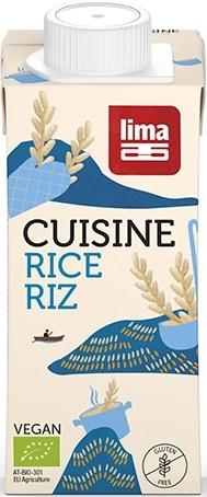 Crema de orez bio (smantana vegetala), 200ml - Lima