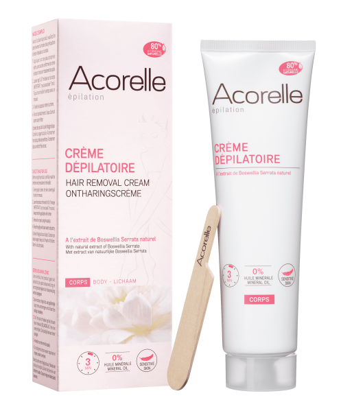 Crema depilatoare corp cu extracte naturale, 150 ml - Acorelle