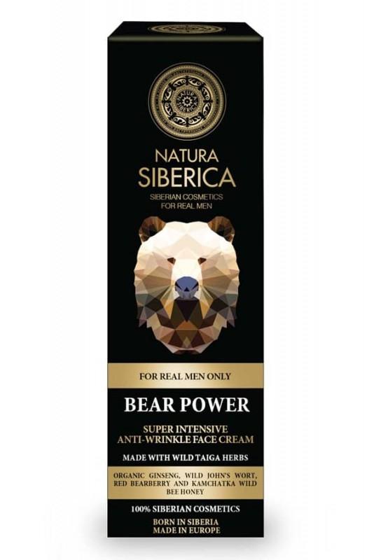 Crema intensiva antirid pentru barbati, cu plante siberiene, Bear Power - Natura Siberica
