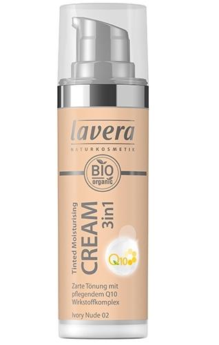 Crema nuantatoare 3-in-1 cu coenzima Q10 - Ivory Nude 02, 30ml - LAVERA