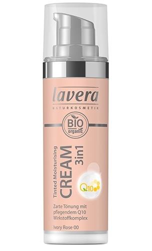 Crema nuantatoare 3-in-1 cu coenzima Q10 - Ivory Rose 00, 30ml - LAVERA