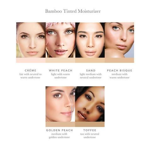 Crema nuantatoare matifianta Bamboo Blur, Peach Bisque - 100 Percent Pure Cosmetics