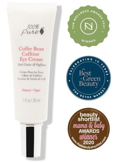 Crema pentru ochi cu cafeina, 30 ml - 100 Percent Pure Cosmetics