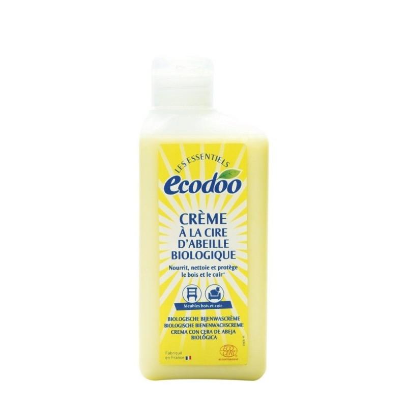 Crema polish pentru mobila si piele, cu ceara de albine - Ecodoo