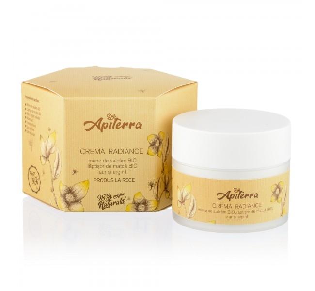 Crema Radiance cu laptisor de matca, aur si argint coloidal, 50ml - Apiterra