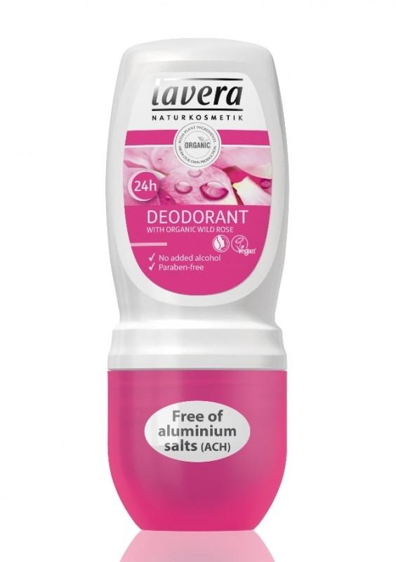 Deodorant roll-on bio fara alcool Trandafiri Salbatici, 50 ml - LAVERA