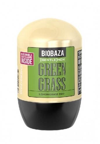 Deodorant natural roll-on pentru barbati GREEN GRASS (lemongrass) - BIOBAZA