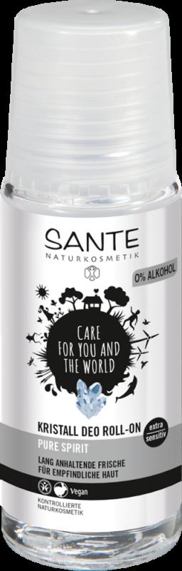 Deodorant roll-on extra sensitiv fara parfum & alcool, Pure Spirit  - SANTE NATURKOSMETIK