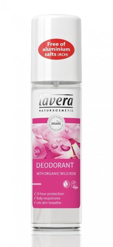Deodorant spray natural 24h Trandafiri Salbatici, 75 ml - LAVERA
