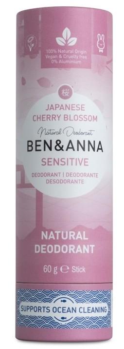 Deodorant stick piele sensibila Japanese Cherry Blossom, tub carton 60g - Ben & Anna