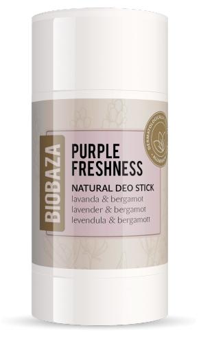 Deodorant stick natural Purple Freshness, lavanda si bergamot - BIOBAZA