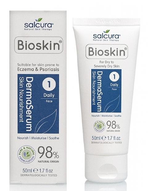 Dermaserum Ser hidratant pentru ten foarte uscat, eczema, psoriazis, mancarimi, 50ml - Salcura